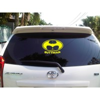 Sticker Decal Mobil Cutting Vinyl Reflektif Buttman Plesetan Batman
