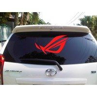 Sticker Decal Mobil Cutting Vinyl Reflektif ROG Republic of Gamer