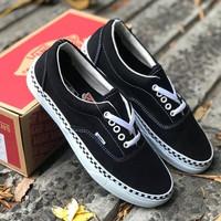 Sneakers Vans Checkerboard Foxing Black True White Black
