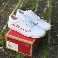 Sneakers Vans Old Skool Sharktooth White