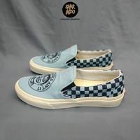 Sneakers Vans Slip On John Van Hamersveld Checkerboard Light Blue