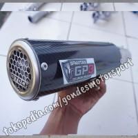 Knalpot Spartan GP3 150 cc Full System Carbon