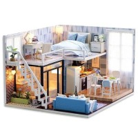 Miniatur Rumah Boneka DIY Doll House Wooden Furniture Cute Room