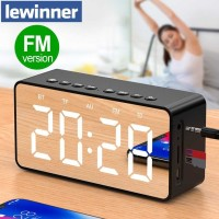 Jam Alarm Clock with Bluetooth Speaker TF AUX FM Radio