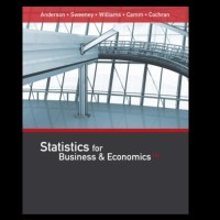 STATISTICS FOR BUSINESS & AND ECONOMICS 13TH EDITION ANDERSON
