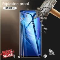 Tempered Glass 9D Infinix S5 Anti Gores Kaca Warna Full