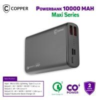 COPPER POWERBANK 10000 MAH - MAXI SERIES (FREE TRAVEL POUCH)