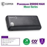 COPPER POWERBANK 20000 MAH - MOON SERIES (FREE TRAVEL POUCH)