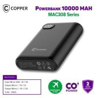 COPPER POWERBANK 10000MAH - MAC308 SERIES (FREE TRAVEL POUCH)