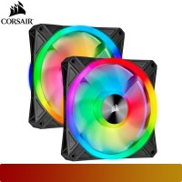 Corsair - iCUE QL140 RGB 140mm PWM Dual Fan Kit with Lighting Node