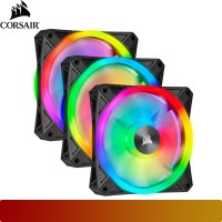 Corsair - iCUE QL120 RGB 120mm PWM Triple Fan with Lighting Node