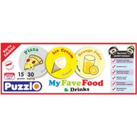 "kartu edukasi Puzzlo ""my fave food & drink"