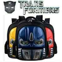 Tas Lampu LED mata Transformers tas sekolah anak tas ransel