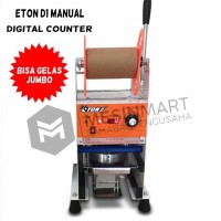 Cup Sealer Mesin Press Gelas ET-D1 Gelas Jumbo 22 Oz Digital Counter