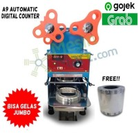 Cup Sealer Mesin Press Gelas ET-A9 Automatic DIGITAL Gratis Roll GOJEK