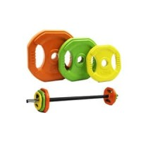 IRONBULL Color Rubber Pump Barbell 20kg Set-IR7207