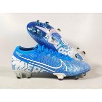 Sepatu Bola Vapor 13 Elite Neymar Blue Hero / White FG Replika Impor