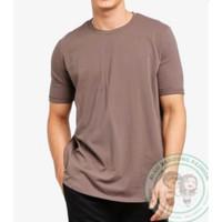 Kaos Polos Cotton Combed 30s Premium Coklat Mocca S M L XL XXL
