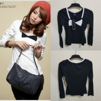 T-Shirt Korean Style Black 183536