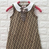 DRESS ANAK COKELAT PITA