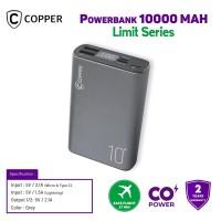 COPPER POWERBANK 10000 MAH - LIMIT SERIES (FREE TRAVEL POUCH)