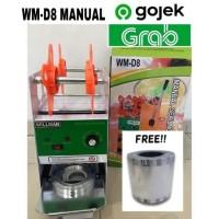 Cup Sealer Mesin Press Gelas WILLMAN WM-D8 + Roll Gojek GARANSI RESMI