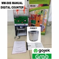 Cup Sealer Digital Counter Mesin Press Gelas WM-D8 +Roll Gojek GARANSI