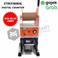 Cup Sealer Press Gelas ET-D1 Gelas Jumbo 22 Oz Digital Counter GOJEK