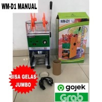 Cup Sealer Mesin Press Gelas WM-D1 u/ Gelas Tinggi Jumbo 22 Oz GOJEK