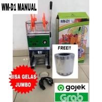 Cup Sealer Mesin Press Gelas WM-D1 u/ Gelas Tinggi 22 Oz + Roll GOJEK