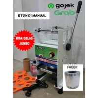 Cup Sealer Mesin Press Gelas ET-D1 u/ Gelas Tinggi 22 Oz + Roll GOJEK