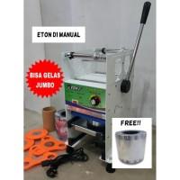 Cup Sealer Mesin Press Gelas ET-D1 u/ Gelas Tinggi Jumbo 22 Oz + Roll