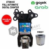 Cup Sealer Press Gelas Full Auto ET-H3 Digital Counter + Roll GOJEK
