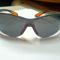 Kacamata Safety Glasses Fashion Black Mirror / Hitam