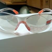 Kacamata Safety Glasses Fashion Clear Mirror / Bening Murah