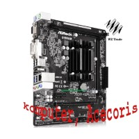 Used, asrock q1900m Integrated j1900 Quad core CPU Low Power DDR3
