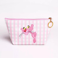 Pouch Kosmetik / Makeup Anti Air Waterproof Motif Flamingo dan Panther