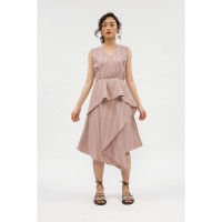 RAMUNE Carrie Layered Dress ( Red Stripes )