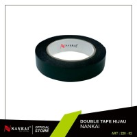 "Double Tape Foam Hijau 1""x5 m / Double Tape Busa Hijau 5 Meter Nankai"