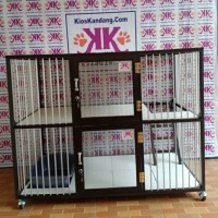 Kandang Kucing Alumunium Tipe KKC-08 2 Lantai (120x60x90Cm)