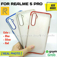 Case Realme 5 pro softcase casing hp back cover ultra thin TPU PLATING