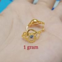 anting wayang dewasa 1 gram emas muda