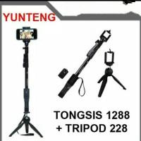 Paket murah tongsis bluetooth yunteng + tripod yunteng