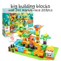 Zoetoys Big Building Blocks Wall 2in1 Marble Race 203pcs | kado anak