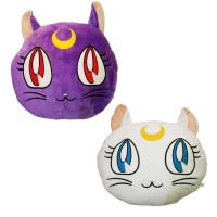 Bantal Sofa 1 pasang Kucing Luna & Artemis Sailor Moon 35 x 35 cm