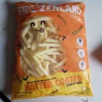 kentang batter coated frozen land 1 Kg