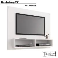 Backdrop TV Minimalis 14-39 Inch - Breket LCD - kabinet TV gantung