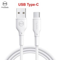 Mcdodo Kabel Data Type C TPE White Cable Charging Data For Android
