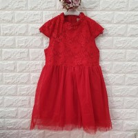 DRESS ANAK IMLEK MERAH BRUKAT