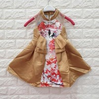 DRESS ANAK GOLD MOTIF BURUNG